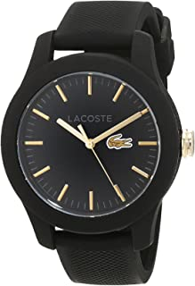 Lacoste Women's Black Dial Rubber Band Watch - 2000959