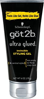Got2b Ultra Glued Invincible Styling Gel, 6 Ounce (Pack Of 2)