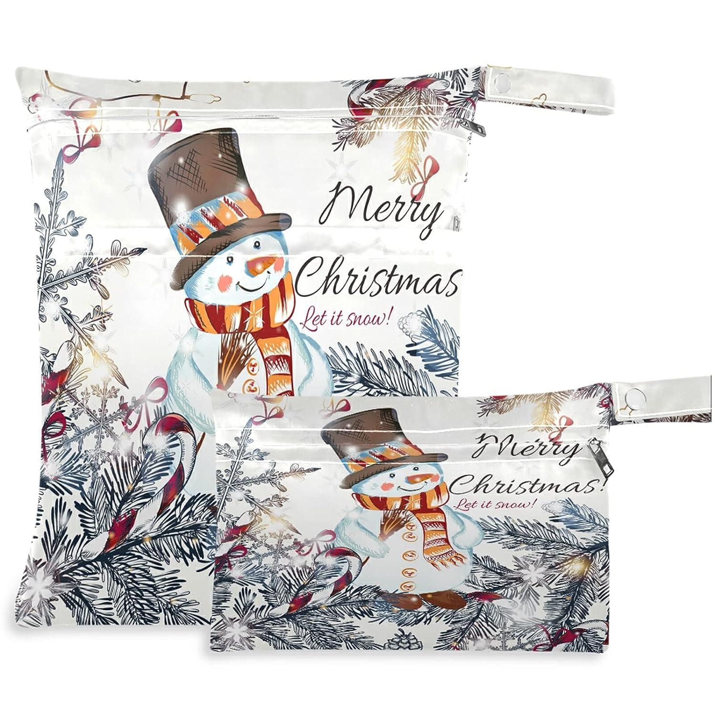 visesunny Cute Christmas Omaha Mall Snowman Xmas Decor Light Ranking TOP8 2Pcs Tree And