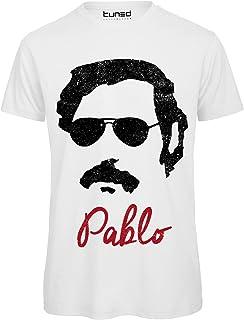 Parrucca Taglia: Medio ILOVEFANCYDRESS Costume Pablo Escobar Sigaro Baffi Pancia Gonfiabile Camicia Hawaiana Gialla Perfetto per I Film TV Costumi del Signore della Droga