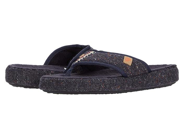 Acorn  Bristol Thong (Navy/Blue) Womens Shoes