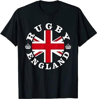 Rugby England UK Vintage British Union Jack T-Shirt