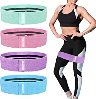 ASHLEYRIVER Exercise Resistance Bands for Legs and Butt, Women/Men Stretch Exercise Loops(Set 4)