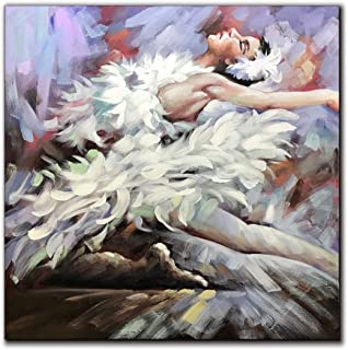 V-inspire Art, 32x32 Inch Modern Abstract Artwork Sexy Dancing Girl Contemporary Abstract Oil Paintings on Canvas Wall Art Ready to Hang for Home Decoration Wall Decor…
