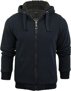 Mens Hoodie Sweatshirt Jumper Brave Soul 'Zone' Hooded Sherpa Lined