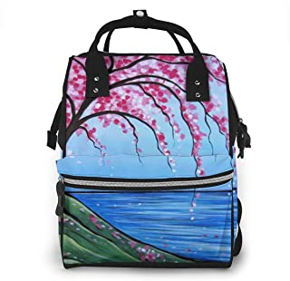 Collection Watercolor Multi-Function Travel Backpack Nappy Bag,Fashion Mummy Bag