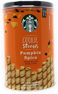 Starbucks Pumpkin Spice Cookie Straws, 40 Individually Wrapped Straw Cookie
