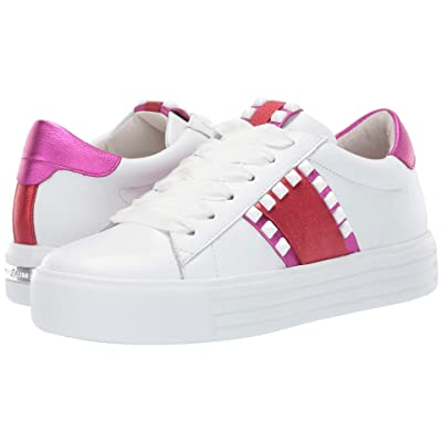 Kennel & Schmenger Up Two-Tone Sneaker (Bianco/Campari/Fuxia Calf) Women