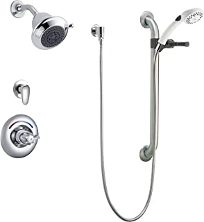 Delta Faucet T13H323-20 Universal Dual Shower Trim, Diverter, Handle Shower and Grab Bar, Chrome