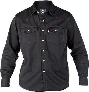 Duke London Mens Western Stonewash Long Sleeved Trucker Denim Shirt