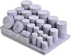 Viltglijders, zelfklevend, 200 stuks, grijs, 5 mm, premium meubelglijders, vilt, sterk zelfklevend, vloerglijders, kleefpa...