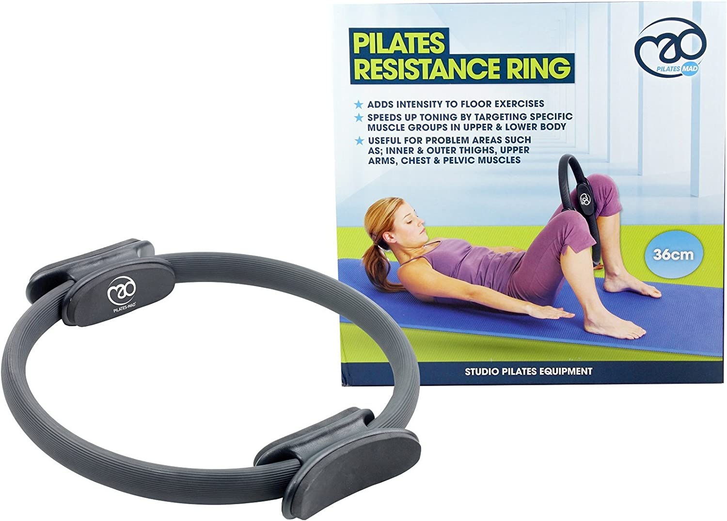 Fitness MAD Double Handle Pilates Resistance Ring