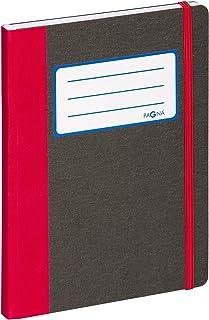 Pagna 26066-03 - Taccuino Basic in formato A5, 192 pagine a quadretti, colore: Rosso