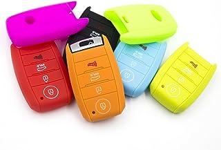 LIGHTKOREA 4 Button Silicone Smart Key Case Cover 1Pcs for Kia Soul Carnival Sedona NIRO Sorento Sportage Rio Forte Optima...