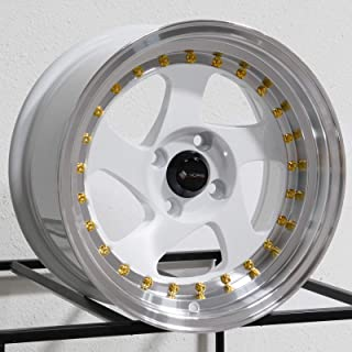15x8 Vors VR2 4x100 20 White Wheel Rim