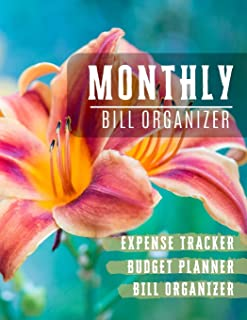 Monthly Bill Organizer: money management planner | Weekly Expense Tracker Bill Organizer Notebook For Business Planner or Personal Finance Planning Workbook (Financial Planner Budget Book)