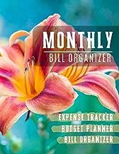 Monthly Bill Organizer: money management planner   Weekly Expense Tracker Bill Organizer Notebook For Business Planner or Personal Finance Planning Workbook (Financial Planner Budget Book)