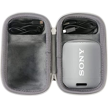 co2crea Hard Travel Case for Sony SRS-XB12 Extra Bass Portable Bluetooth Speaker (Gray Case)
