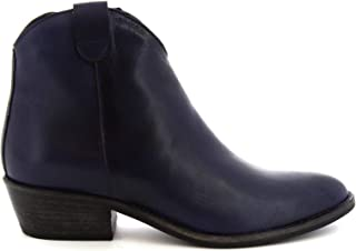 LEONARDO SHOES Luxury Fashion Womens Z122AMERICANAVY Blue Ankle Boots   Season Permanent