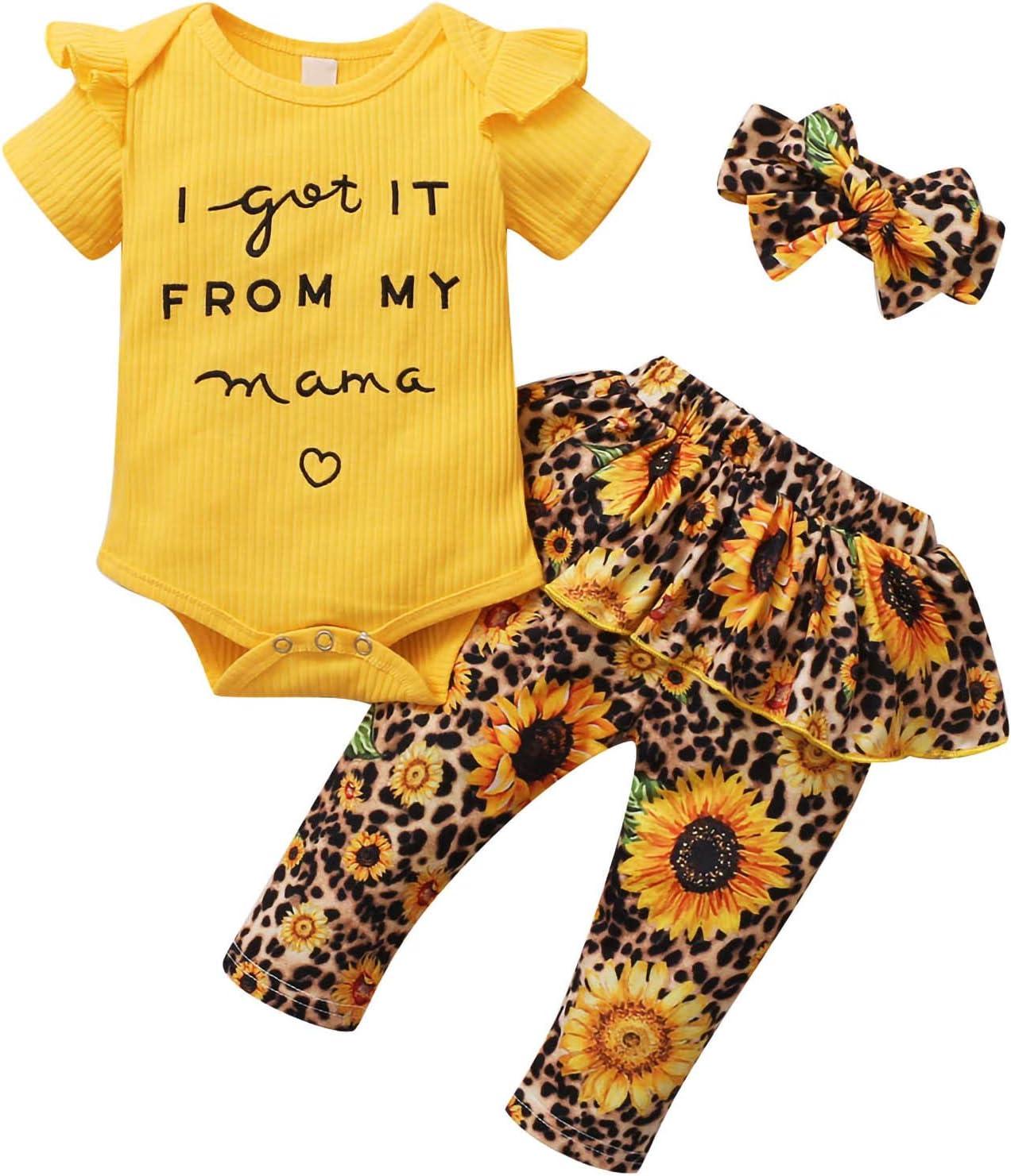 Alternative dealer 3pcs set 0-24 Months Baby Toddler Girl Direct sale of manufacturer Romper Clothes Floral Ruf