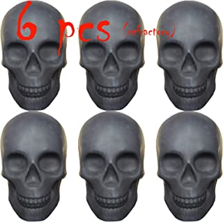FYZTCOCPT Skull Charcoal (Fireproof)(Refractory) Imitated Human Skull Gas Log for Indoor or Outdoor Fireplaces, Fire Pits ...