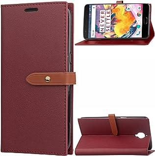 Moonmini OnePlus 3 シェル,財布型職能 レザー 財布 シェル カバー [ キックスタンド ] Pu レザー 財布 シェル 〜と ID & クレジット カード スロット の OnePlus 3