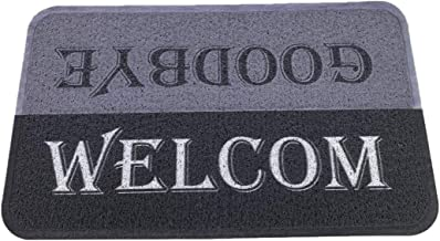 Welcome Doormat for Outdoor Entrance Mat Wire Loop Non-Slip Mat Waterproof Floor Mats Anti Mud Rubber Door Mats 16 x 24 Inch