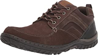 Men's Quest Moccasin Toe Oxford Rugged Casual Lace Up, Brown, 12 Medium US