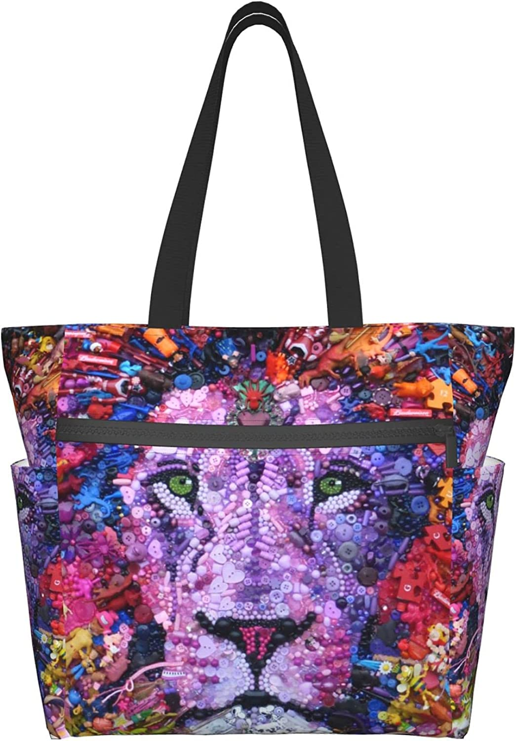 Tote Bag with safety Zipper for Women Bombing new work Purse Lion Handbag Bags Daily