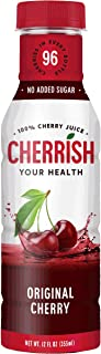 CHERRISH Tart Cherry Juice - 12oz - 12Pack Case - Extreme Hydration Improved Sleep Quality All Natural Sugar Sore Muscle R...