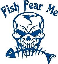 Fish Fear Bone Fishing Skull Skeleton Hunting Car Boat Truck Window Vinyl Decal Sticker