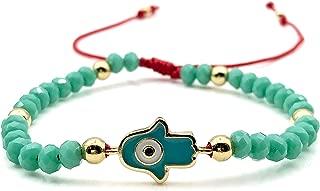 Hamsa Hand Evil Eye Turquoise Crystal Adjustable Red String Bracelet for Women