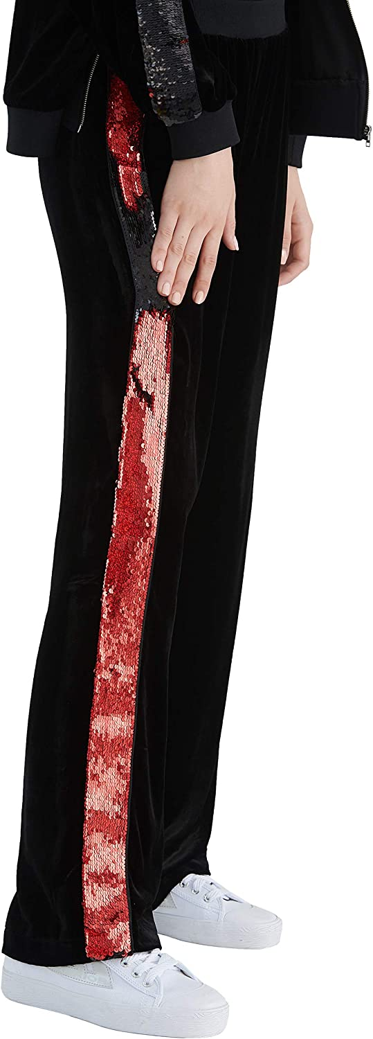 LilySilk Side Strips Silk WideLeg Trousers Long Casual Velvet Women's Jogging Pants