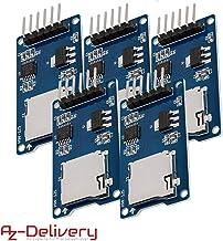 AZDelivery 5 x SPI Reader lector de tarjeta SD TF modulo memory card shield para Arduino con eBook incluido