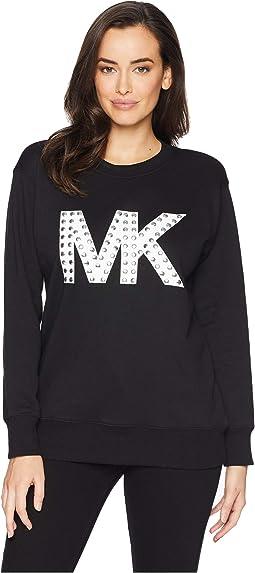 Embellished Logo Boyfriend Sweatshirt