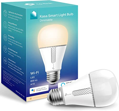 Kasa Smart Light Bulb, LED Smart WiFi Alexa Bulbs works with Alexa and Google Home,A19 Dimmable,2.4Ghz,No Hub Require...