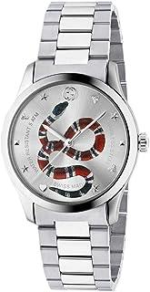 Gucci - Reloj Gucci G-Timeless 38 mm de Acero Inoxidable de la Serpiente en el dial YA1264076