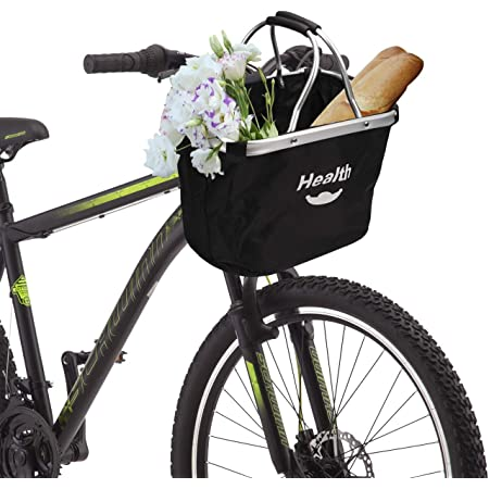 Small Pet Cat Dog Carrier Bicycle Handlebar Front Basket Folding Detachable Removable Easy Install Quick Released Picnic Shopping Bag Bearing 30lbs XUNXING Bike Front Baskets for Women