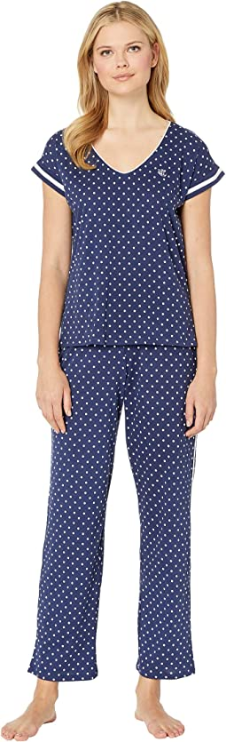 Dolman V-Neck Pajama Set