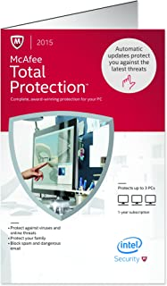 McAfee Total Protection 2015 | 3 Devices | PC Key Card [OLD VERSION]