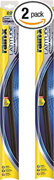 "Rain-X 810165 Latitude Water Repellency 22"" Windshield Wiper Blade, 2 Pack: image"