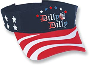 Allntrends Adult Flag Visor Hat Dilly Dilly 4th of July Trending Cheers USA Cap
