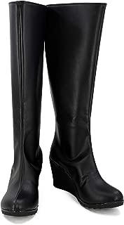 Halloween Women Hero Cosplay Shoes Guardian Black Costume Boots High Heel