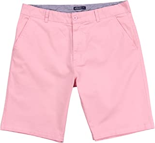 Mens Flat Front Stretch 10 Inch Inseam Shorts