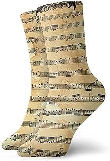 Nota musical Música para hombre Impreso Novedad divertida Casual Crew Dress Calcetines para mujer/Unisex
