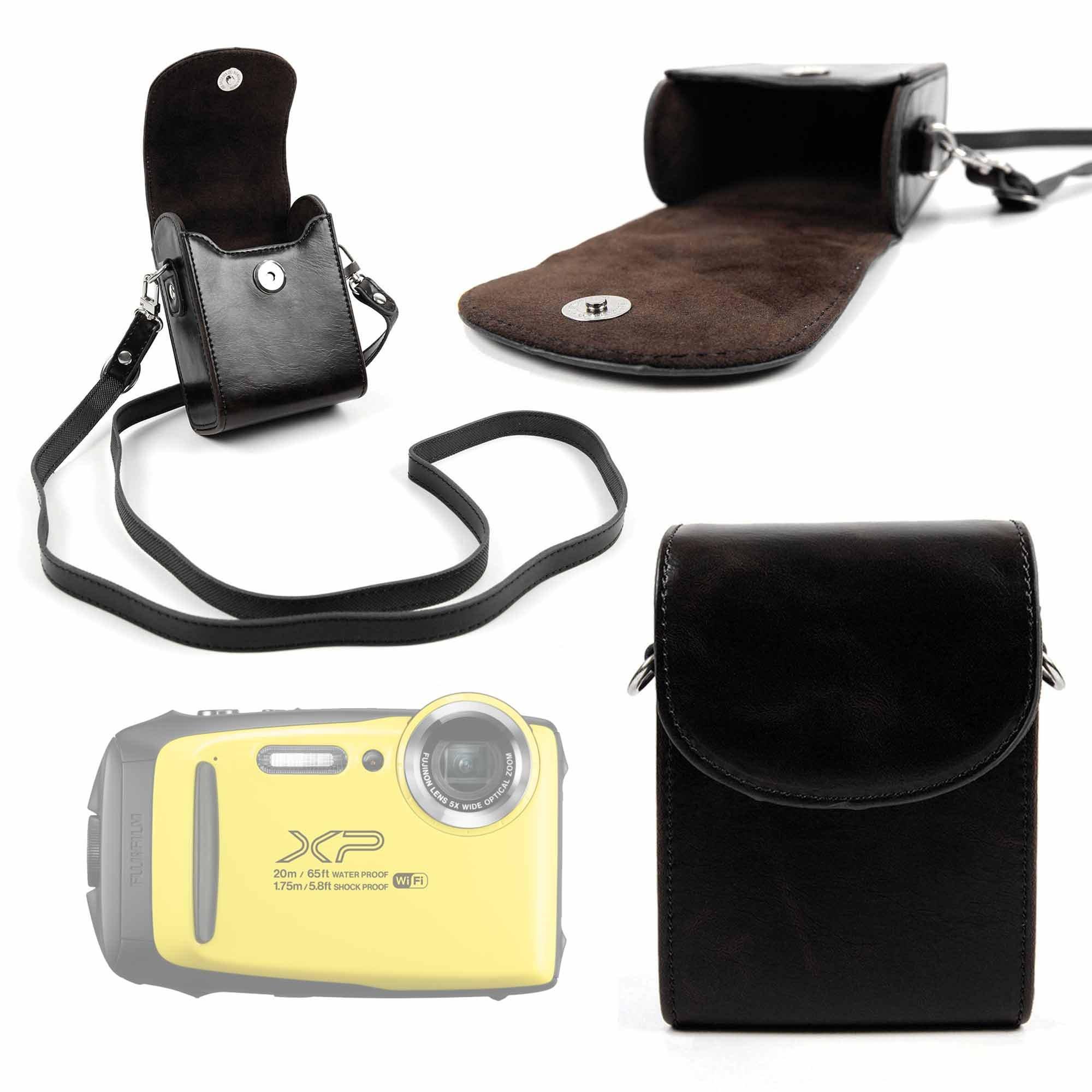 DURAGADGET Bolso De Piel Negra/Estuche para Cámara Fujifilm 16573401 (FINEPIX XP130) | con Correa De Hombro Ajustable: Amazon.es: Electrónica
