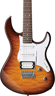 Yamaha PAC212VQM TBS Electric Guitar - Quilted Maple Body and Headstock - Tobacco Sunburst