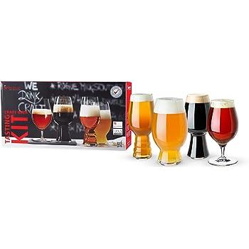 Spiegelau Modern Beer, Dishwasher Safe, Professional Quality Tasting Glass Gift Set, Set of 4, Craft