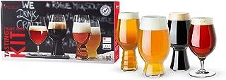 Spiegelau Craft Beer Tasting Kit Glasses, Set of 4, European-Made Lead-Free Crystal, Modern Beer Glasses, Dishwasher Safe,...