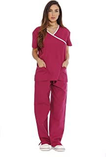 Women's Scrub Sets Medical Scrubs (Mock Wrap)